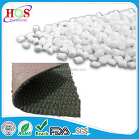 TPE material pellets, plastic granules,Tpe raw plastic pellets for mats back coating