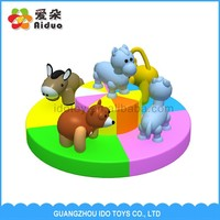Hot recommended preschool animal turntable kids toy,commercial children indoor entertainment equipment