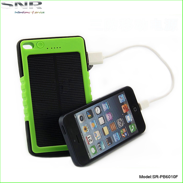 real capacity 5000mah mini solar power bank station IP67 waterproof rechargeable battery for cell phone