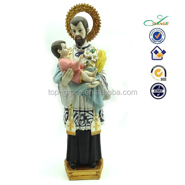 2015 new resin religious images of catholic saints in plaster