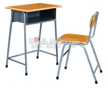 2015 Modern College Furniture Old School Desk and Chair Attached
