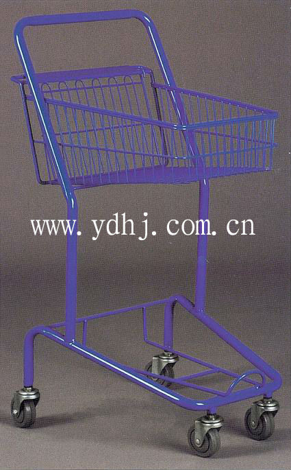 wire basket shopping go cart trolley