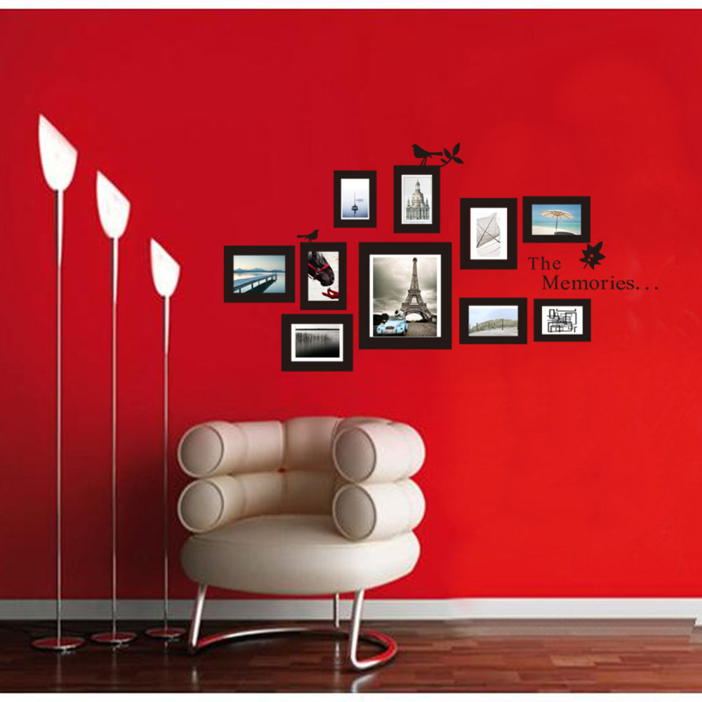 Wholesales Wall Decor Photo Frame The Memories Sticker For Living Rooms Decorative Wall Stickers