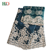 H & D Alibaba Good Quality Lowest Price Bazin Riche Getzner Lace Cotton Embroidery Fabric In China