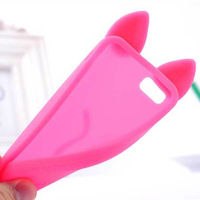 for iphone 5 animal 3D shape funny silicone case