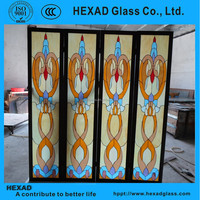 HEXAD Stained Glass Sliding Doors