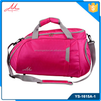 Removable shoulder strap washable fashionable sport duffle bag