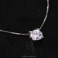 china jewelry wholesale 925 sterling silver gemstone stone pendant necklace