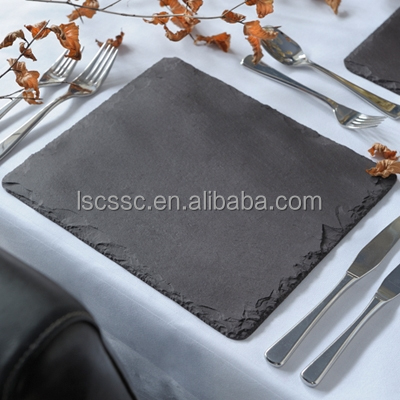 Hot sale natural cheese tray series stone plates pizza slate tray