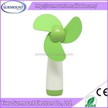 2015 Summer Strong Wind Poratble Battery Powered Heldhand Operated Fan for Travel