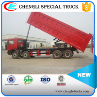 china factory 60 tons loading 30cbm dump body 12 wheels 8*4 type 375hp shacman dumper truck algeria
