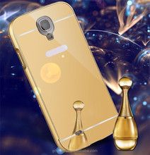fashion metal aluminum bumper acrylic mirror back cover case for gionee f103