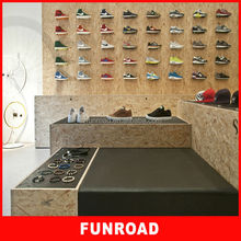 name brand shoe store display furniture design for decoration for hot sale.