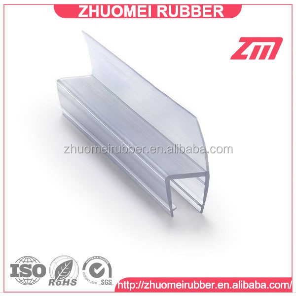 Pvc screen seals shower glass edge protection strip buy glass edge protection shower glass - Shower glass protection ...
