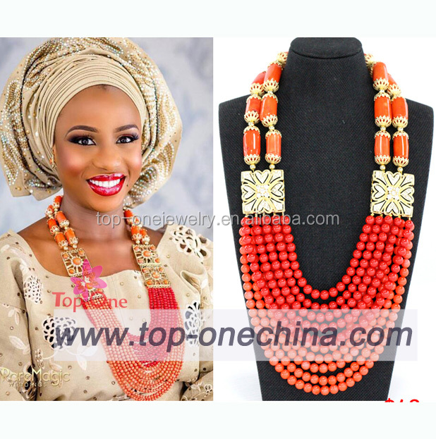 Muticolor Handmake African Inspired Fashion Jewelry Set beads coral Necklace Making For Women
