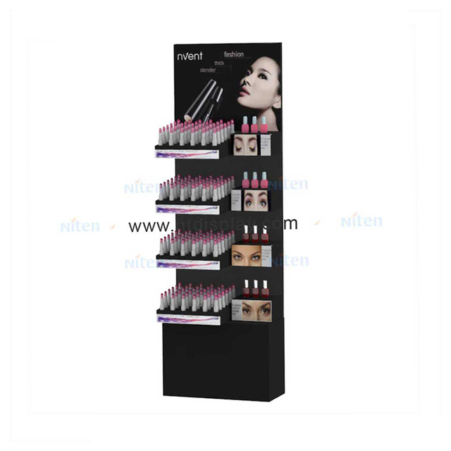 Cheap Standing Display Stand Cardboard For Cosmetics Product