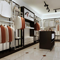 High grand clothes shop counters for garment hanging stand and shop clothes hanger stand