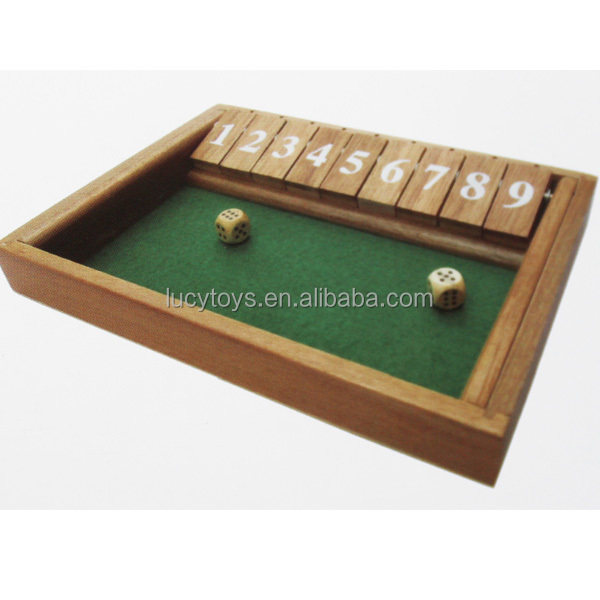 Wooden shut the box ludo game