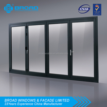 aluminum folding door with fly screen double glazing AS2047 certified of good quality and favorable price