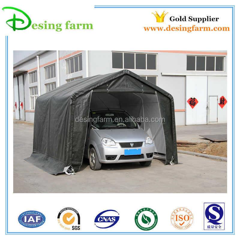Folding Car Garage Cover : Pe pvc easy to assembly folding car cover tent with garage