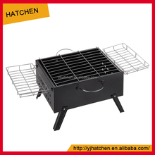 A606 black outdoor stainless steel foldable picnic charcoal BBQ grill