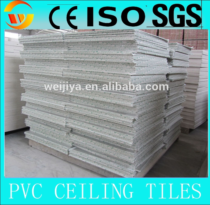 2014 white pvc gypusm ceiling/T bar building materials
