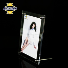 JINBAO Hinged Double Acrylic Photo Frames 2 Pictures Magnetic Framing