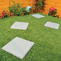 Garden plastic flat path brick natural slate