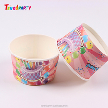 Cheap and good quality disposable paper snack cups disposable ice cream cups custom printed ice cream paper cups