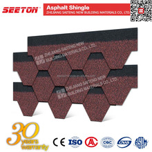 Waterproof Coating for Tiles , Asian Red 5-tab Asphalt Roofing Shingle
