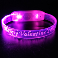 2019 Party Favors Promotional Gift Pink Color Led Flashing Wristband For Disco And Concert Event