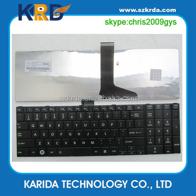 Wholesale New keyboard for Toshiba C850 C855 L850 L850D L855 laptop keyboard US UK SP RU AR BR layout