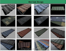 roofing sheet sizes 1340*420*0.4mm/decorative roof shingles/colorful natural stone chip coated metal roof tile