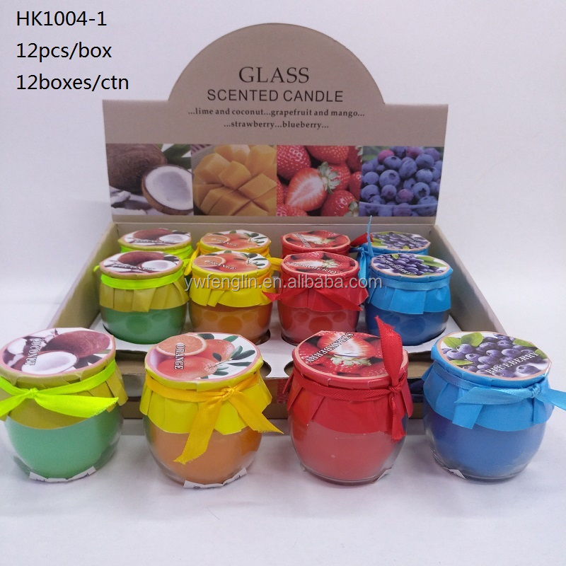2017 small round scented tin jar glass cup candle for house