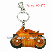 fashion key chains motorcycle leather