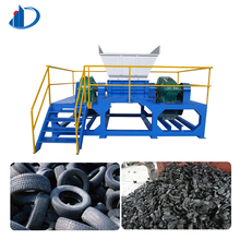 Tyre crusher price plastic shredder blades tire recycling equipment