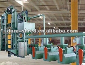 Automatic rubber powder milling/miller machine in tire recycling machinery