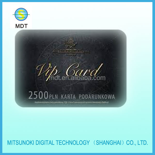 plastic Vip card made in shanghai