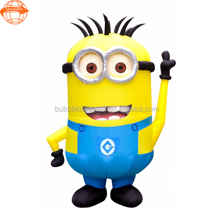 Factory price high quality inflatable yellow minion model cartoon characters for advertising