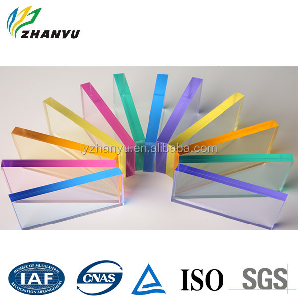 Rain-bow Colorful Transparent Acrylic Sheet Cast Acrylic / Plexiglass / Perspex Sheet