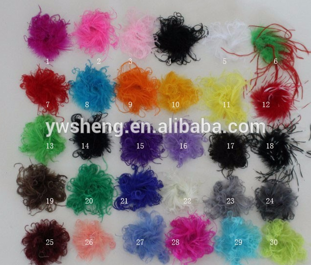 Wholesale cheap Artifical colorful ostrich feather curly boas for sale