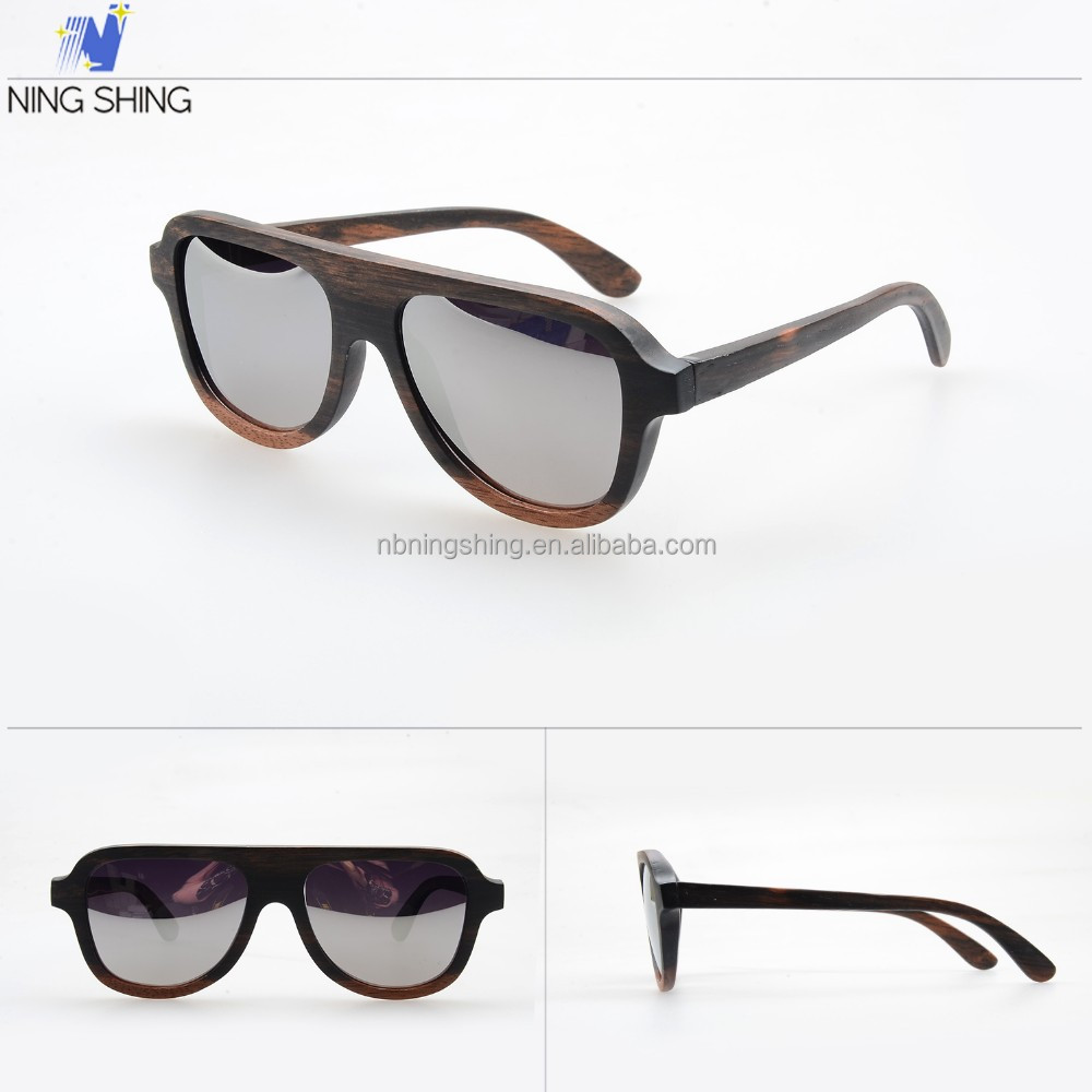 brass wooden sunglasses RV151067 luxurious custom logo and CR39 lens