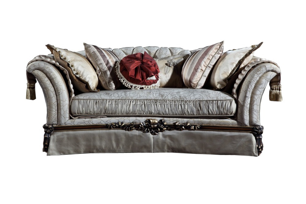 Graceful French Neo-Classical Two Seat Sofa for Villa and Hotel, Luxury Classic French Style Living Room Furniture BF11-09292f