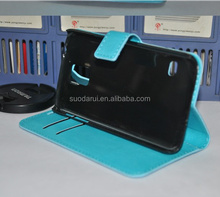 Factory OEM Mobile Phone Wallet Case For Samsung Galaxy S5 i9600 Flip Stand Cover