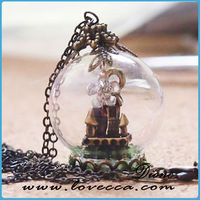 Blown exquisite microwave glass cover for jewelry