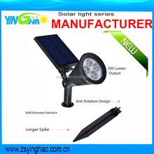 Amazon hot seller new 3rd version solar spotlight from yinghao YH0502C