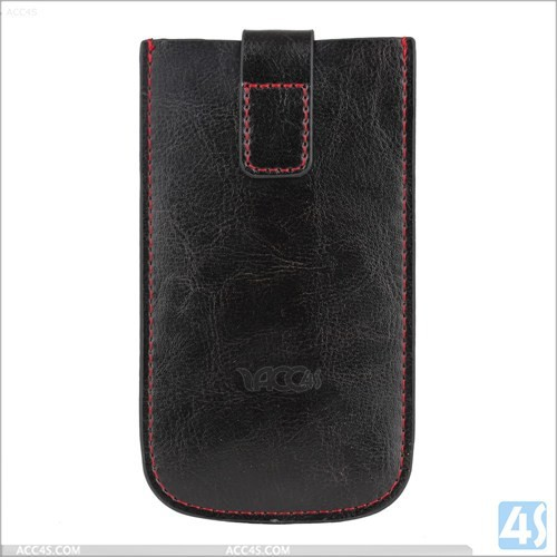 New wholesale with card slots style luxury genuine leather pouch for iphone5 case