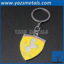 Plated zinc alloy custom metal key chain