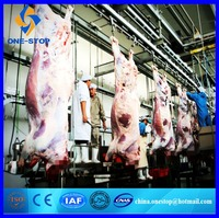 Cow Slaughter Machine Slaughterhouse Black Bull Cattle Abattoir Production Line Equipment Machinery