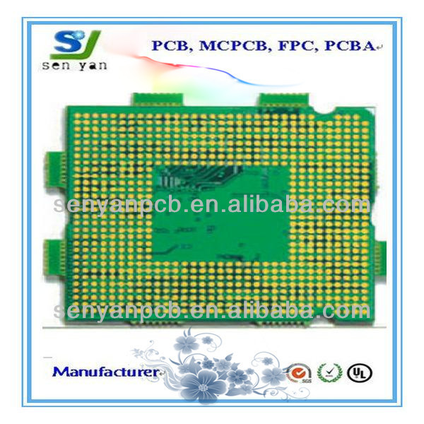 1.6mm board thickness rigid multilayer fr-4 vias plugged by copper pcb board